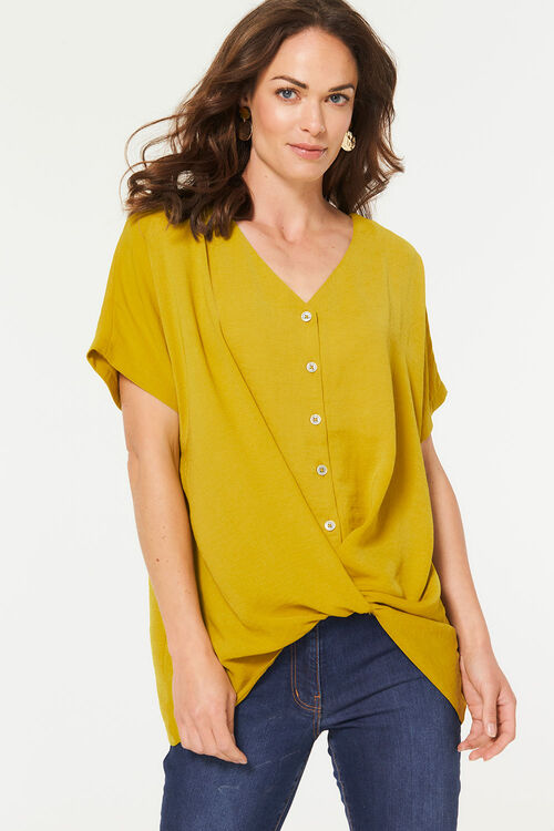 Twist Front Blouse