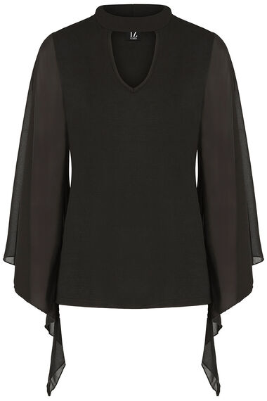 Izabel Chiffon Batwing Sleeve Top