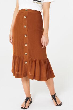 Plain Crinkle Skirt