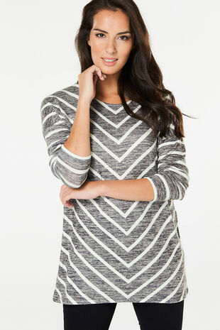 Chevron Stripe Tunic