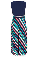Diagonal Stripe Midi Dress