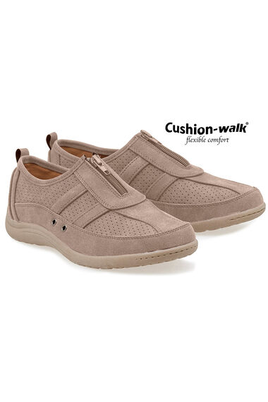 Cushion Walk Zip Front Shoe