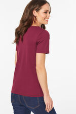 Scoop Neck Plain T-Shirt
