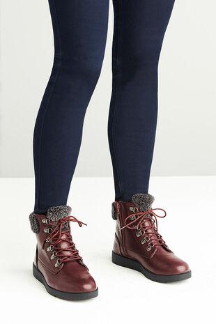Dr. Keller Faux Fur Trim Lace Boot