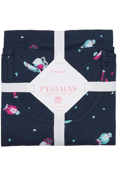 Gift Wrapped Owl Print PJ Set