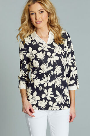 Jacquard Jersey 2 in 1 Top
