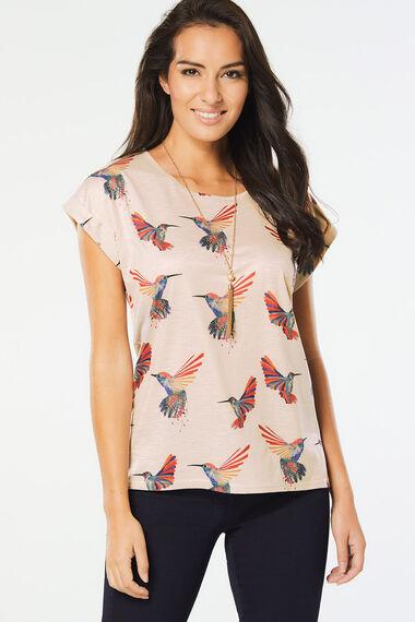Izabel Bird Print T-Shirt