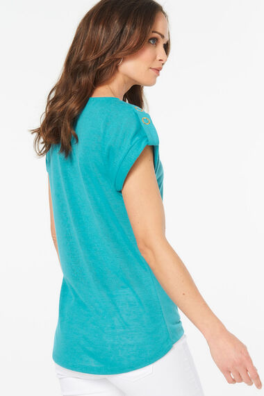T-Shirt With Turn Back Cuff