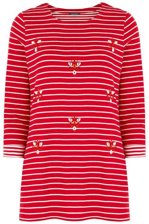 Embellished Stripe Tunic