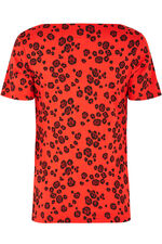 Square Neck Leopard Print T-Shirt