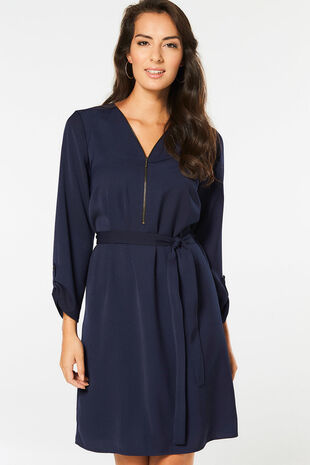 Zip Front Tunic Dress