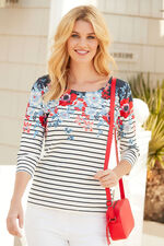 Trailing Floral Scoop T-Shirt