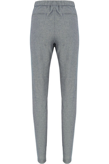 Pinstripe Tapered Trousers