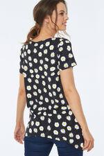 Daisy Print Asymetric Tunic