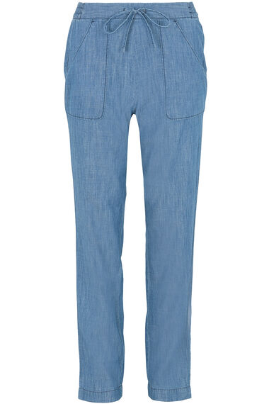 Chambray Harem Trousers