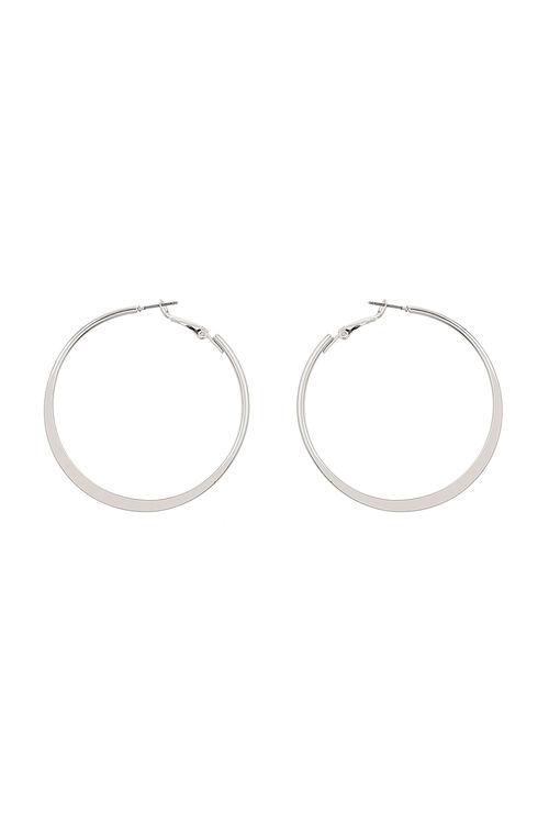 Muse Silver Hoop Earrings