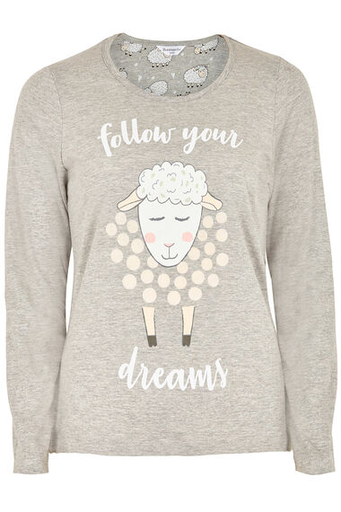 Sheep Placement Print Pyjama