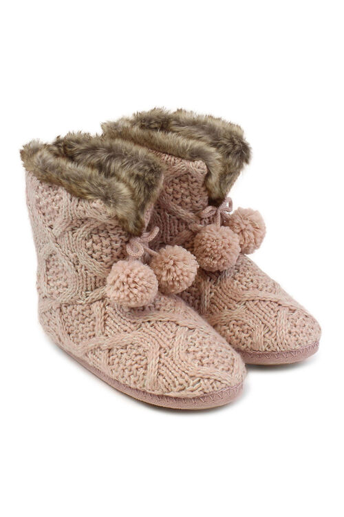 Totes Knitted Slipper Bootie