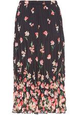 Floral Chiffon Crinkle Skirt