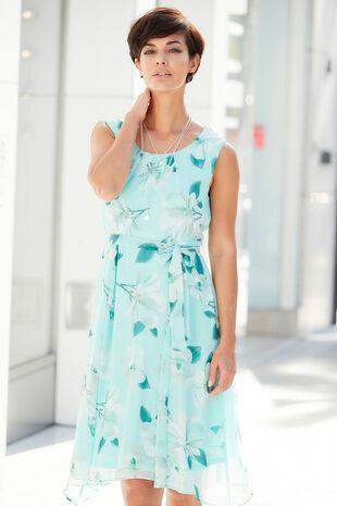 Magnolia Chiffon Hanky Hem Dress