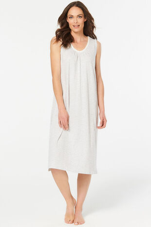 Cotton Stripe Nightdress