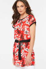 Floral Tunic With Belt