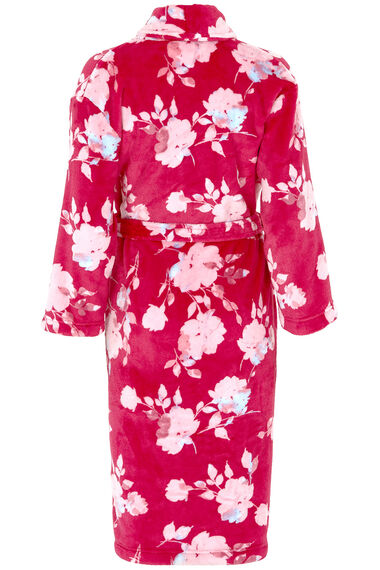 Floral Fleece Dressing Gown