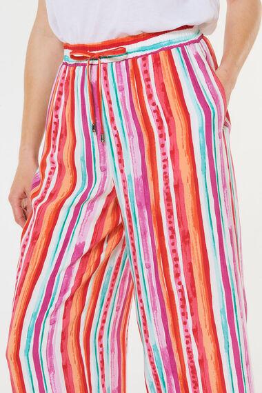 Spun Viscose Wide Leg Crop Trouser