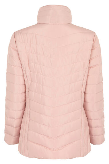 Quilted Jacket with Faux Fur Collar
