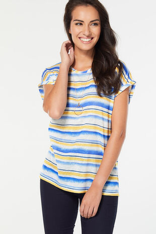 Paintly Stripe Print T-Shirt