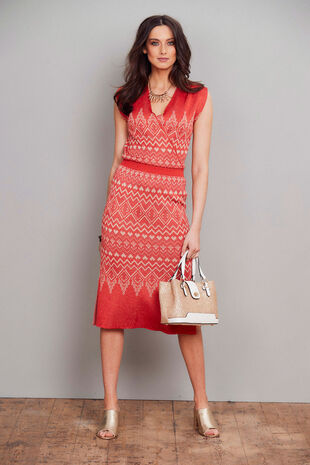 Join Us Jacquard Dress