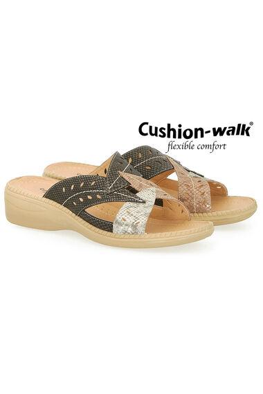 Cushion Walk Leaf Design Slip On Sandal