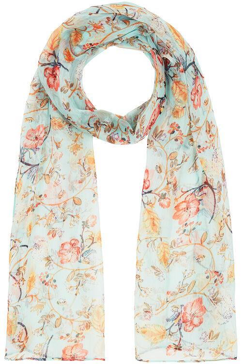 Blossom Print Chiffon Scarf