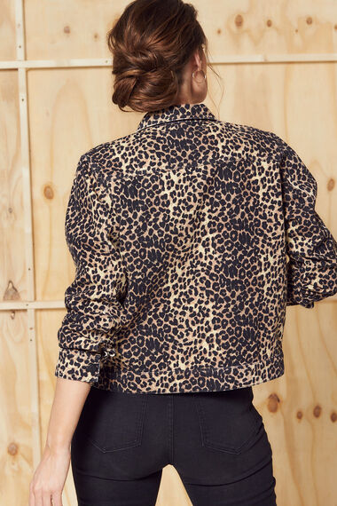 Nine To Six Animal Print Denim Jacket