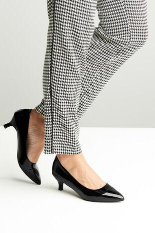 Comfort Plus Patent Kitten Heel Shoe
