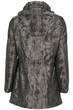 Animal Metallic Printed Parka