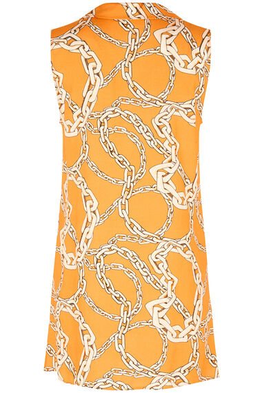 Grace By Eda Sleeveless Chain Print Tunic Top