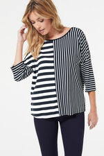 Cut About Striped Jersey Top