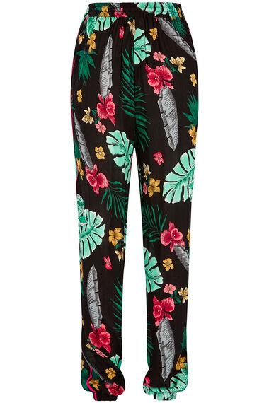 Isla & Rose Tropical Print Pull On Trouser