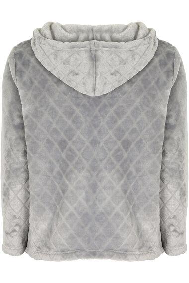 Diamond Fleece Hooded Top