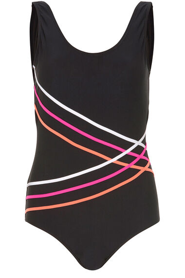 Piping Detail Swimsuit