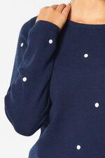 Spot Embroidered Jumper