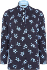 Printed Funnel Neck Sweater