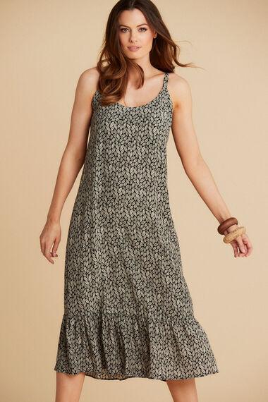 Salvari Ruffle Hem Dress