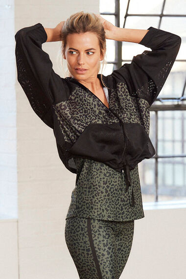 NVC Activewear Animal Print Mesh Zip Jacket