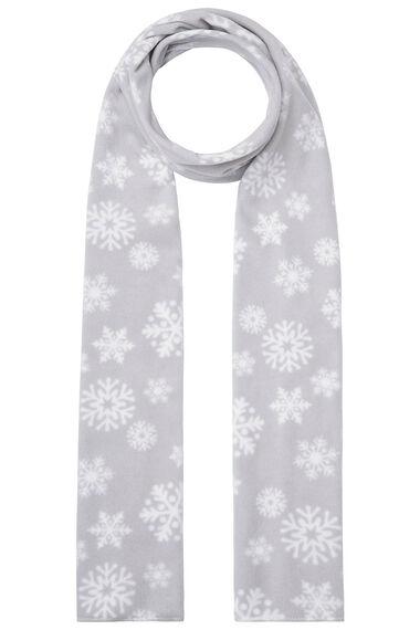 Snowflake Scarf and Glove Fleece Set