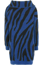 Join Us Zebra Pattern Tunic Jumper