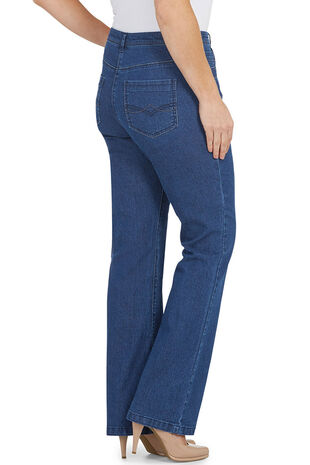 Boot Leg Stretch Denim Jeans