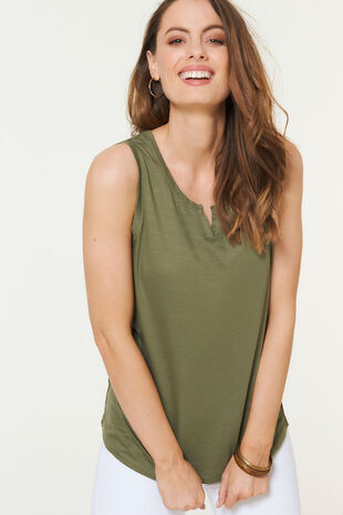 Plain Notch Neck Vest