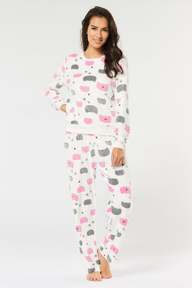 Stella Morgan Cat Print Loungewear Set